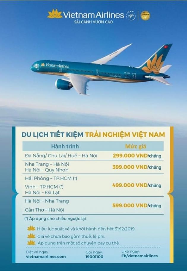 Mặc sức vi vu – chẳng lo chi phí vì có vẻ rẻ từ Vietnam Airlines
